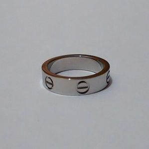18k over Stainless steel Screwdriver Love ring